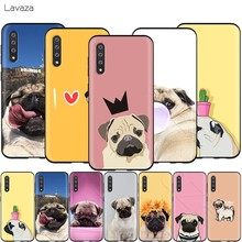 Lavaza Animal Bonito Cão Pug Case for Samsung Galaxy S6 S7 Borda J6 S8 S9 S10 Plus A3 A5 A6 a7 A8 A9 Nota 8 9(China)