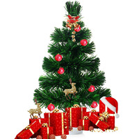 45センチミニledクリスマスツリー人工光ファイバクリスマスツリーバッテリ駆動でカラー変える光ふさふさxmax