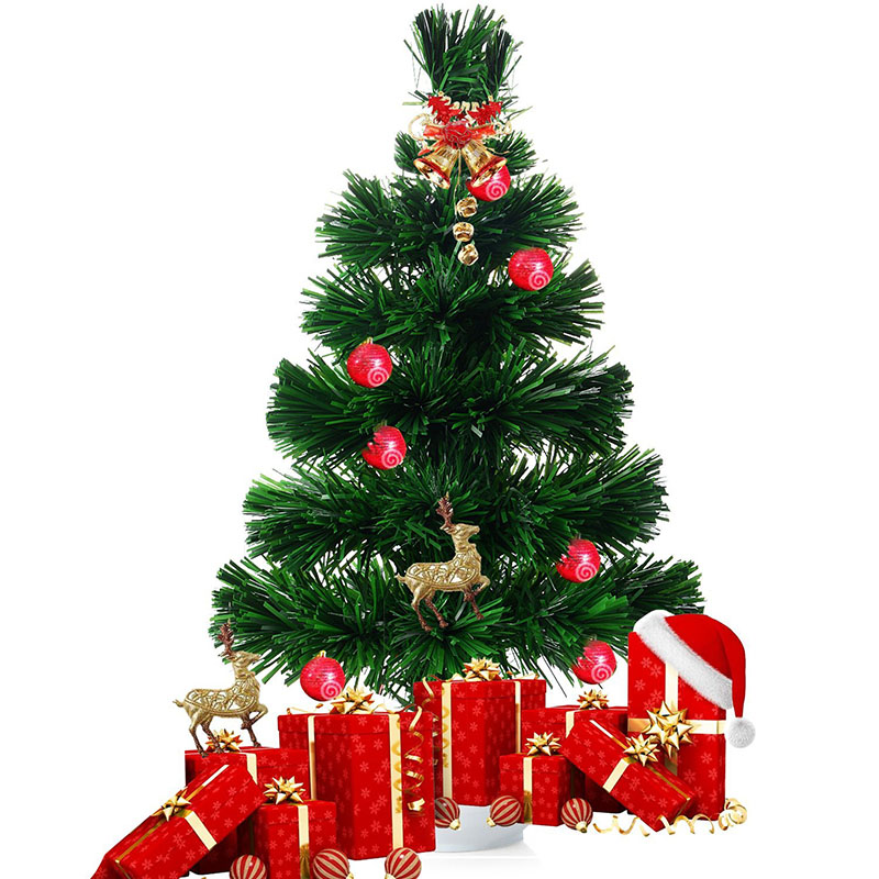 Small Battery Operated Christmas Tree: 45 CM Mini LED Christmas Tree Artificial Fiber Optics