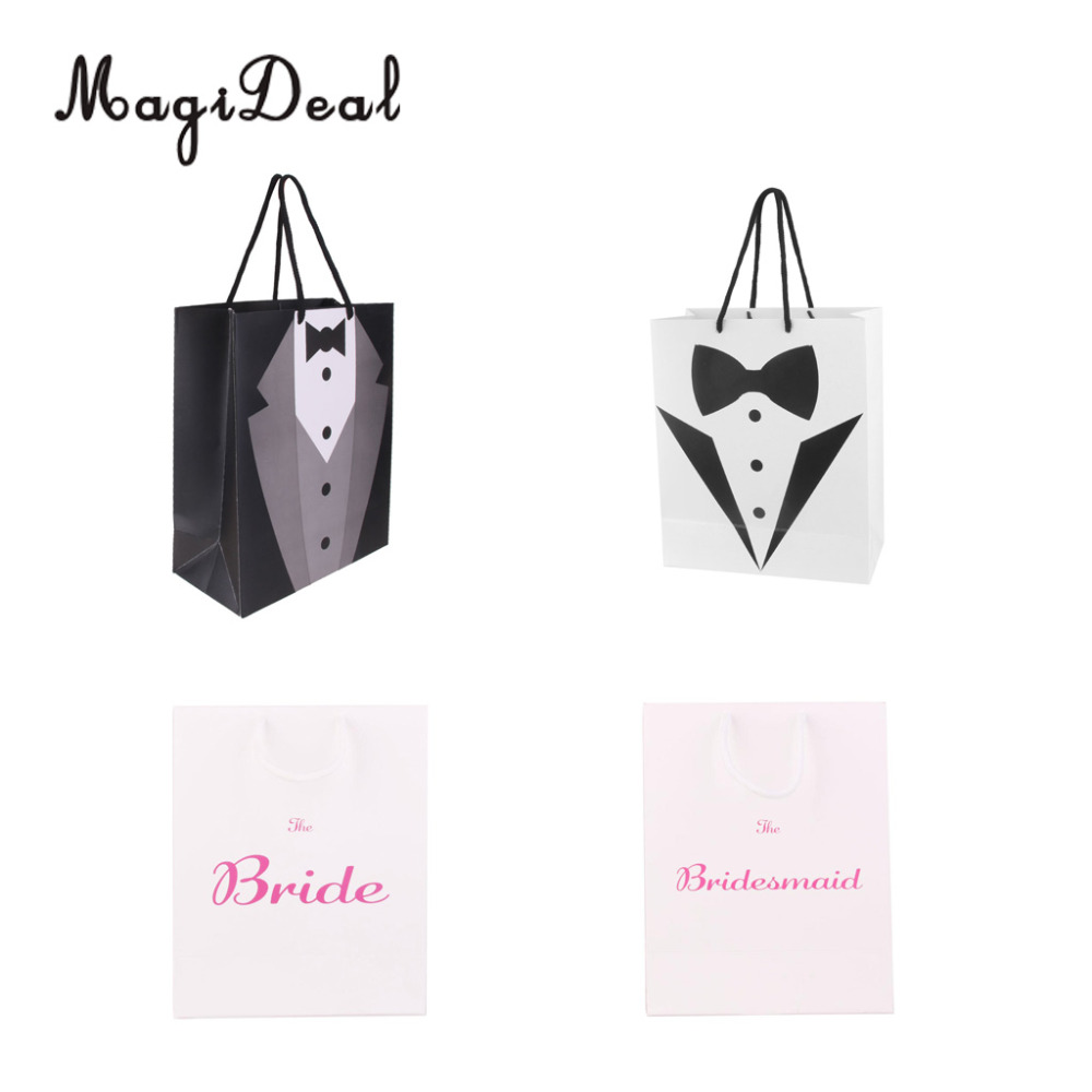 Magideal Tuxedo Candy-Bag Handle Favor Gift Bride Wedding-Party-Paper Large
