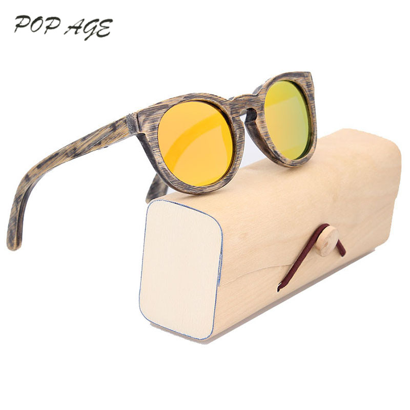 2017 Retro Design Bung Sunglasses Casing Bags Box Boys Boys Sunglasses Kids Round Circle Fashion Designer Small Glasses Round