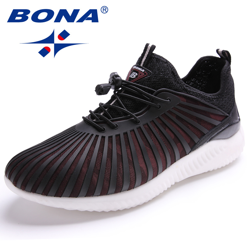 BONA New Arrival Classics Style Men Running Shoes Outdoor Walking Jogging Shoes Lace Up Sneakers Mesh Athletic Shoes For Men sneakers men shoes outdoor 2017 size 36 44 sports shoes men running shoes for men lace up boy anti skid jogging walking x158