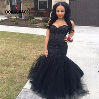 Doragrace Charming Sweetheart Lace Up Mermaid Prom Gowns Sequins Evening Dresses
