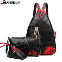 Fashion Leaf Backpack Female Pu Leather Women's Backpack Large Capacity School Bags for Girls 3 Set Multifunction Travel Bag