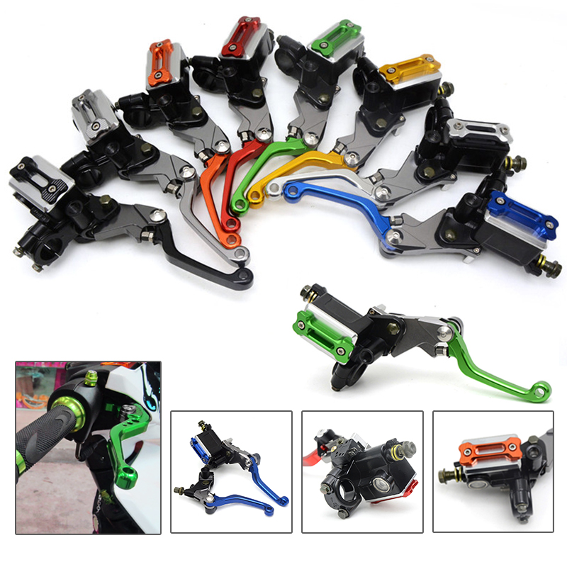 ФОТО motocross folding brake lever clutch Lever with front pump for KAWASAKI KX250F 2005 2006 2007 2008 2009 2010 2011 2012 2013 2014