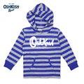 Meney's / OshKosh 2017 Kids Hoodies Boys Striped Blue Gray Pocket Sweatshirt 100% Cotton Baby Full Sleeves Hooded Clothes Child