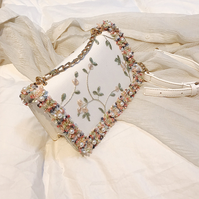 Pearl Flower Flap Bags...