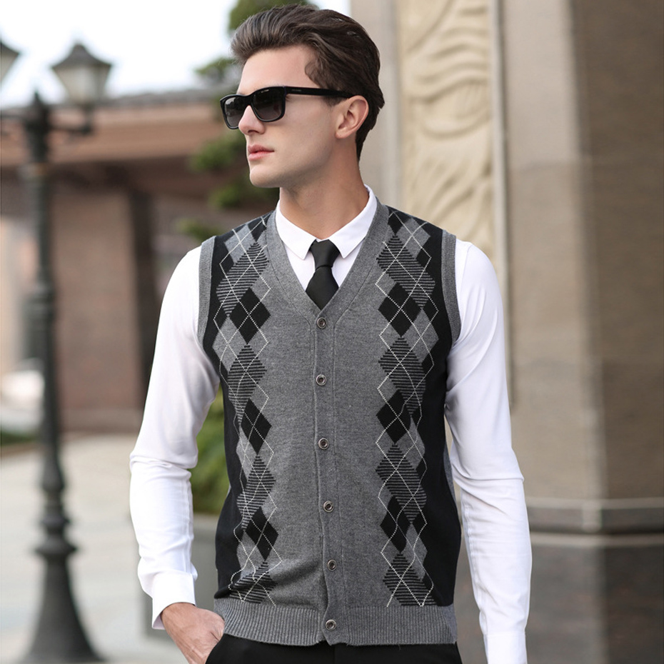 men button sweater vest Picture - More Detailed Picture about ...
