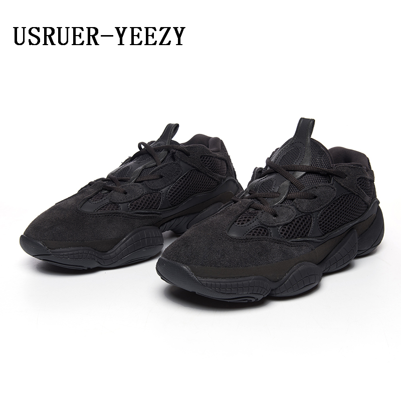 buy popular 6d7cc c8e50 USRUER YEEZY Boosts 500 running shoes Genuine leather lBlush ...