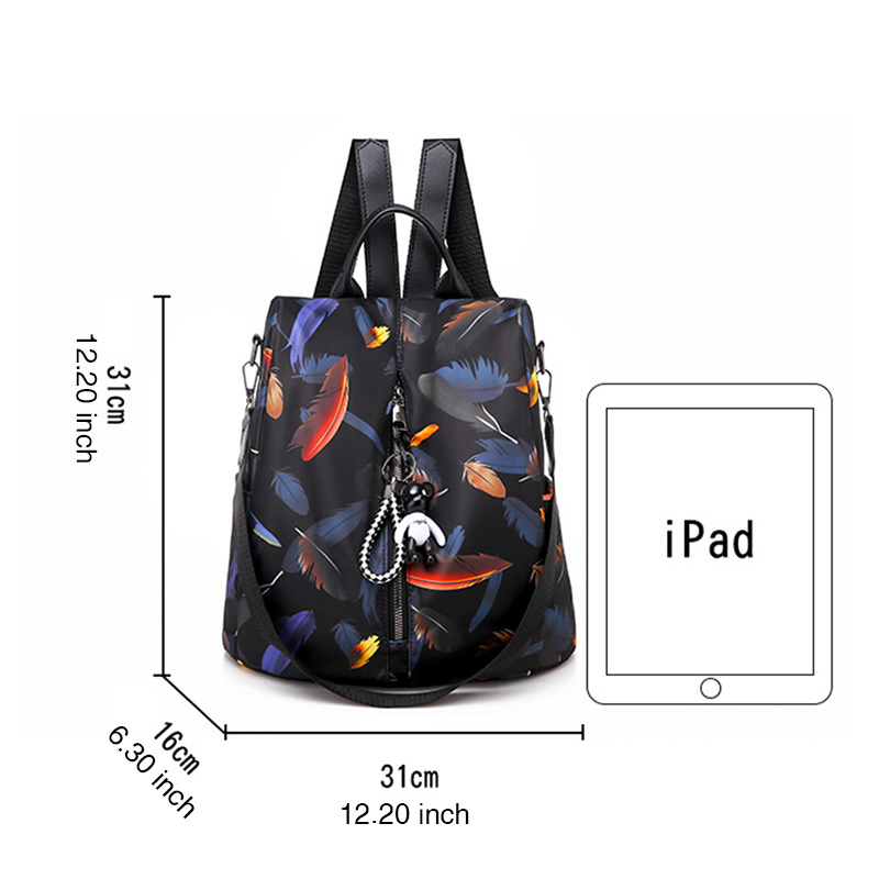 DIZHIGE Brand Waterproof Oxford Women Anti theft Backpack High Quality School Bag For Women Large Capacity Multifunctional Bags in Backpacks from Luggage Bags