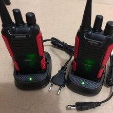 2 adet Baofeng BF 999S Walkie talkie UHF 400 470mhz 16CH 1800mAh LI ion pil iki yönlü telsiz aksesuarları