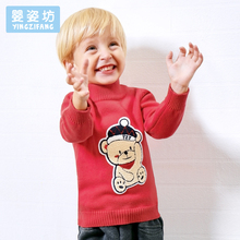 Thick Winter Toddler Sweater Warm Boys Girls Kids Clothes T-Shirt Costumes Children Clothing Printing Long Sleeve Tee Shirt