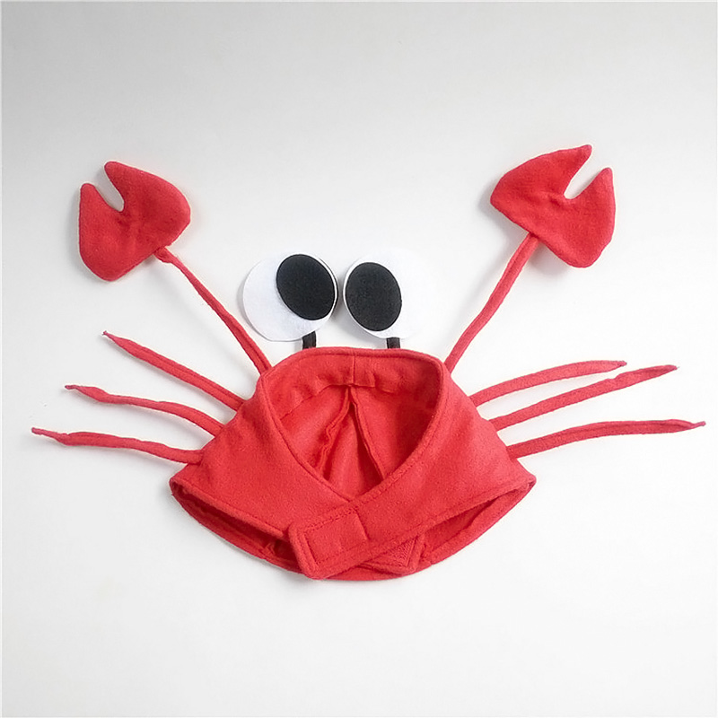 Cute Crab Hat Cap Party Halloween Christmas Funny Decoration Cosplay Costume Props for Kids Children Gift YJS Dropship in Gags Practical Jokes from Toys Hobbies