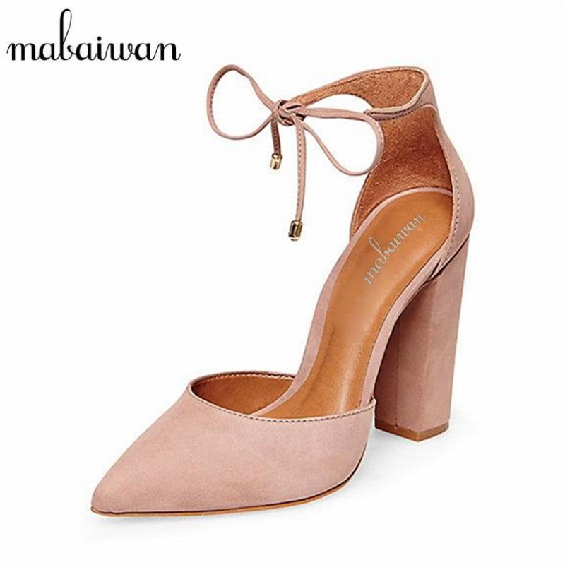 Precio de Fábrica Mabaiwan Mujeres Sexy Sandalias de Encaje Hasta Gladiador Tacones Altos 9 CM Mujeres Bombas Zapatos de Boda Zapatos de San Valentín