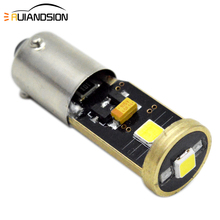 AC/DC 12-24V Canbus Error Free BAY9S BA9S BAX9S H6W H21W T4W Osram3030 3Chips LED Reverse Lights Parking Lights 2W White Yellow 2pcs high power canbus error free white amber ba9s t4w bax9s h6w bay9s h21w 64136 xbd 11w led lights reverse parking bulb lamps