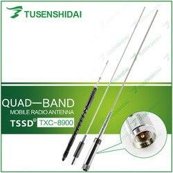 Alta qualidade cb/vhf/uhf quad band 29/50/144/430 mhz antena do carro móvel para tyt TH-9800