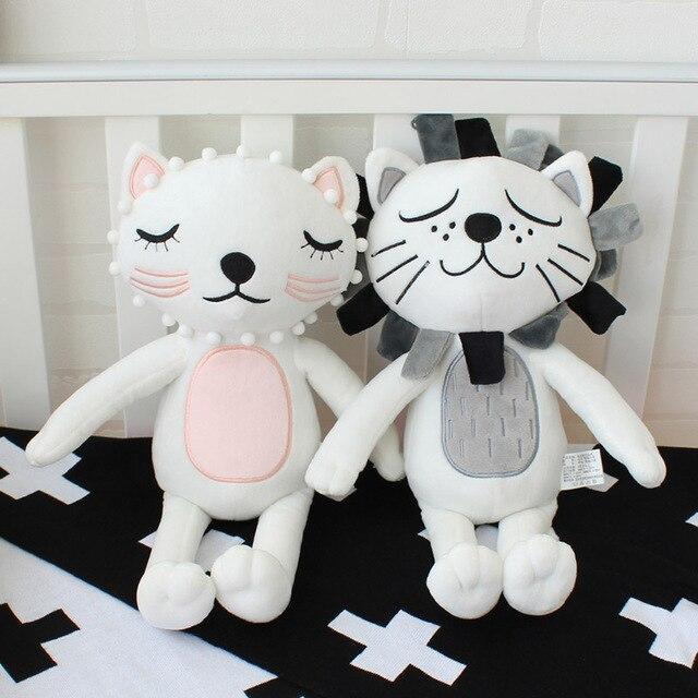 Almohada de bebé niños juguetes de peluche niñas León gato muñecas ...