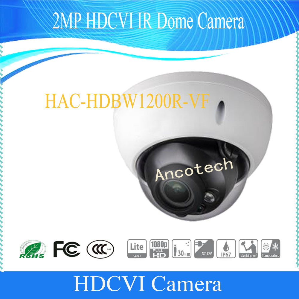Dahua Free Shipping Original English  Security Camera CCTV 2MP HDCVI IR Dome Digital Video Camera without Logo HAC-HDBW1200R-VF