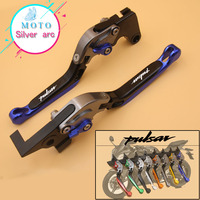 Motorcycle Folding Extendable CNC Moto Adjustable Clutch Brake Levers For Bajaj Pulsar 200 NS/200 RS/200 AS