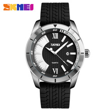 купить SKMEI Men Quartz Watch 30M Waterproof Complete Calendar Sport Watches Silicone Strap Fashion Wristwatches Relogio Masculino 9151 по цене 846.99 рублей