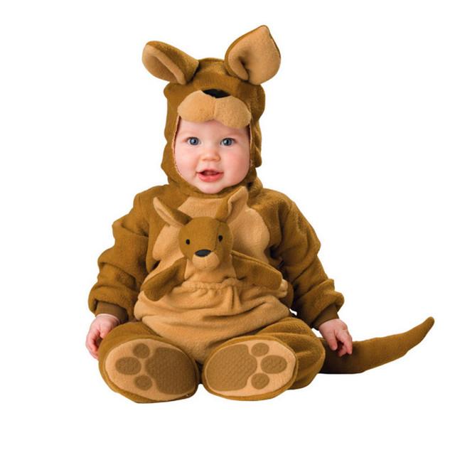Bebé Footies Niños con canguro de Halloween langosta animal modelado conjoined ropa Encantadora ropa del funcionamiento FWA3003