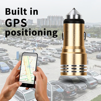 Go2linK 3 In 1 Dual USB Car Charger APP GPS Finder Locator Emergency Hammer Max 5V