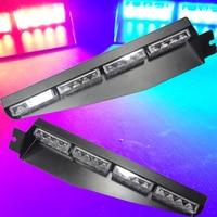 2Pcs Lot Car Led Emergency Strobe Flash Warning Light 12V 24V Vechicle 32 LED Dash Light