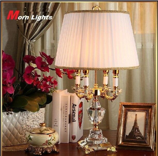 Lampe En Cristal moderne éclairage chambre lampe de chevet de luxe lampe de table en cristal Abajur
