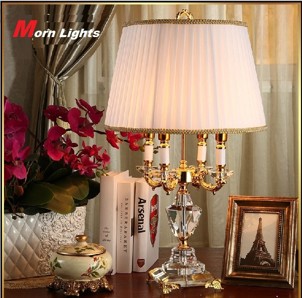 Modern Crystal Lamp Lighting Bedroom Bedside Lamp Luxury