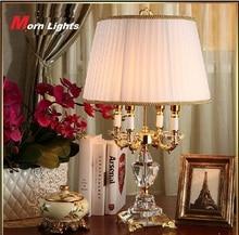 Современная хрустальная лампа освещение спальня прикроватная лампа Роскошная модная Хрустальная настольная лампа Abajur