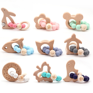 Cartoon Wooden Teether Natural