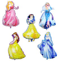 Elsa Five Princess Foil Balloons Baby Birthday Party Decoration Helium decorations Girls Globos Balony