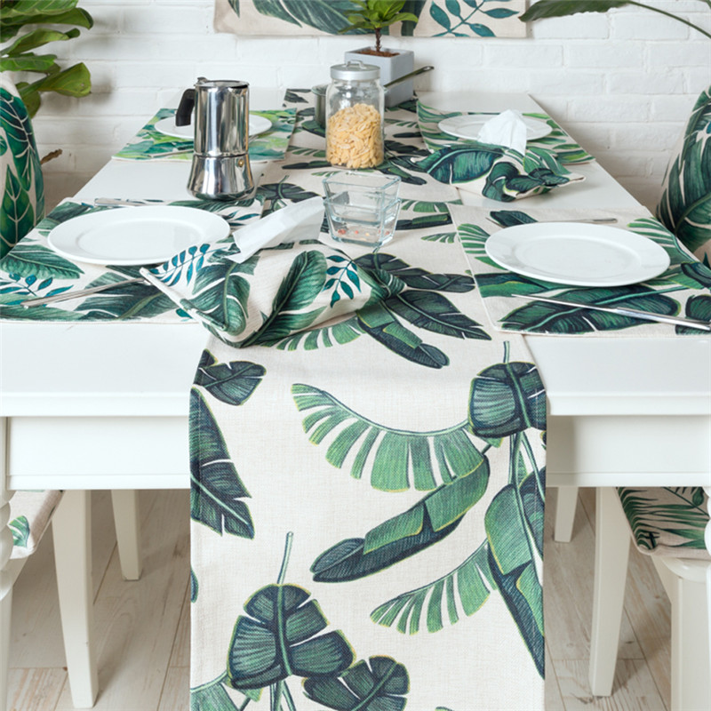 Great Haolaiwu New Modern Style 3D Photo Print PolyesterLinen Table Runner  Irregular Tropical Plant Printed Cloth Table Runners In Table Runners From  Home ...