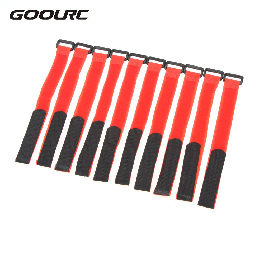10 Pcs Strong RC Battery Antiskid Cable Tie Down Straps 26*2cm Battery Strap RC Drone Battery Band RC Part Red Black Yellow