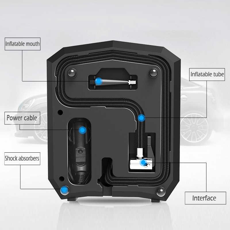 2018 Baru Digital Ban Inflator DC 12 Volt Mobil Portable Air Compressor Pump 150 PSI Auto Aire Pompa untuk Mobil lampu LED Motor