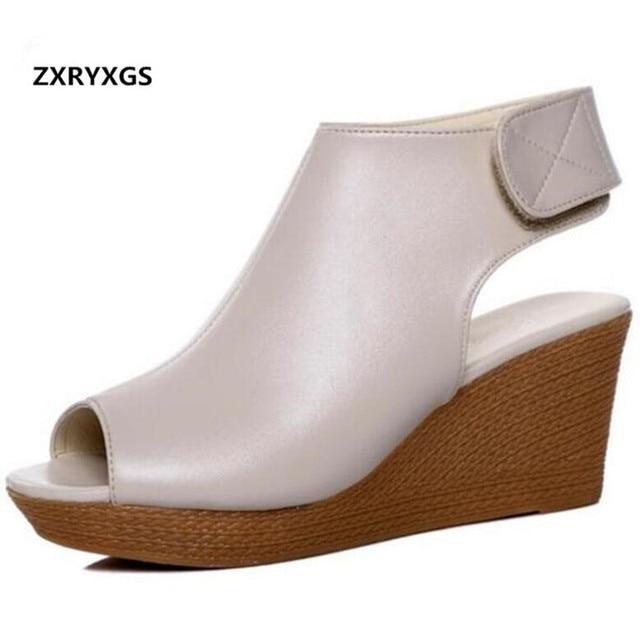 829ba0361ed74e ZXRYXGS marque chaussures d'été femmes sandales 2019 nouvelle tête de  poisson creux d'