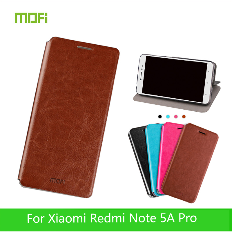 MOFi For Xiaomi Redmi Note 5A Prime Case Mofi Book Flip Style Mobile Phone Cases For Redmi Note 5A Prime PU Leather Stand Cover