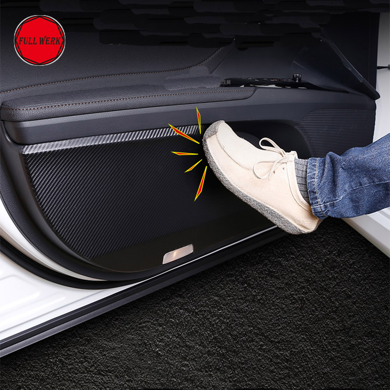 Leather Car Styling Interior Door Sticker Anti Kick Cover Decal Protector for 8th Camry 2018 Interior