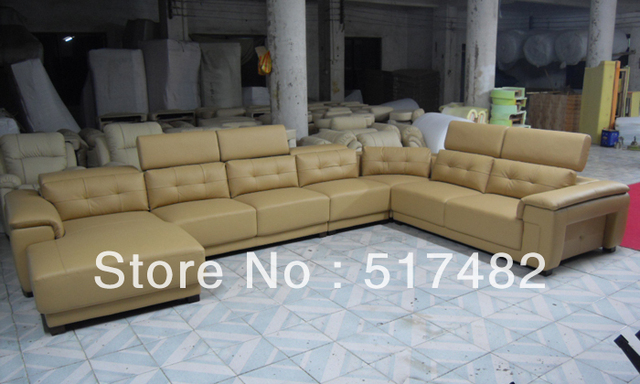 Leather Sofa With Solid Wooden Internal Frame And High Density Foam For  Cushions.