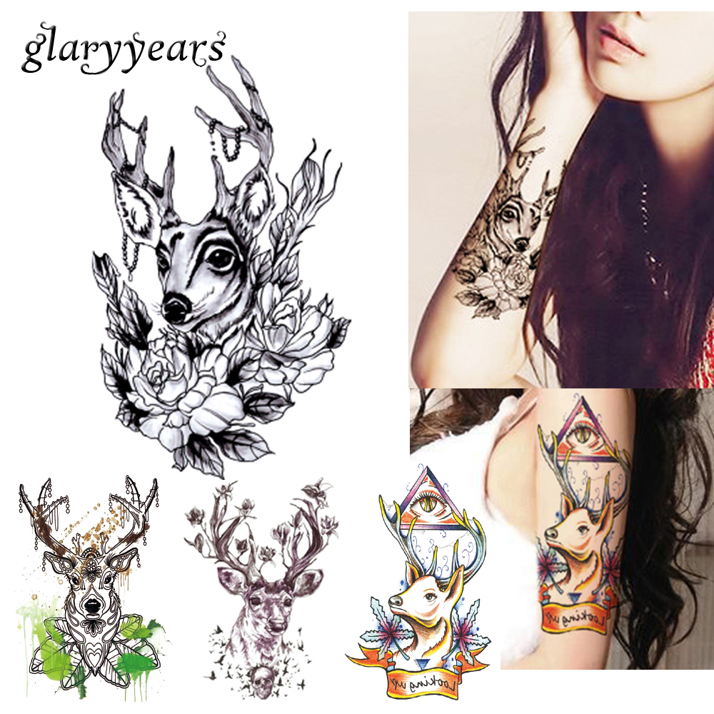 Tattoo Woman Deer: Online Buy Wholesale Temporary Tattoo Sticker From China
