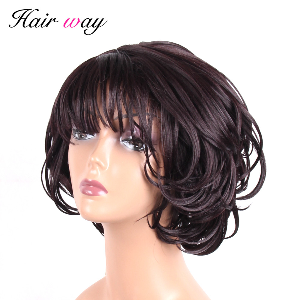 Hair Way Synthetic Hair Wigs 8 Inch Natural Wave Kanekalon ...