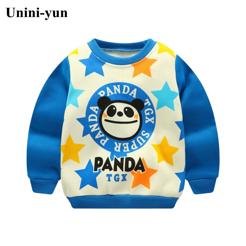 Winter Children Kids Boys Girls Autumn Sweater baby Thick Sweatshirts Girls Warm Tops kids clothes panda print blue top Shirt
