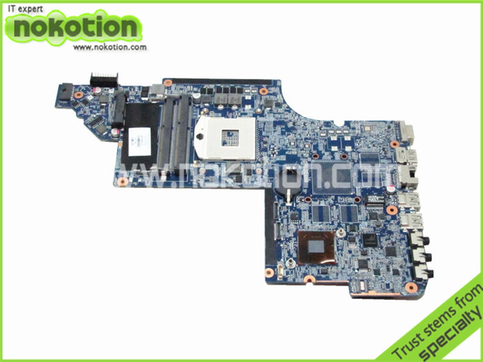 NOKOTION 641485-001 for HP Pavilion DV6 motherboard DV6-6000 intel HM65 DDR3 Socket PGA989 Laptop Mother Board 665347 001 for hp dv6t 6c00 notebook dv6t 6b00 notebook pavilion dv6 dv6 6000 laptop motherboard pga989 ddr3 hm65 hd6490 1g