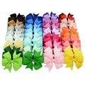 Hot Sale Cute 40pcs Colors Baby Girl Ribbon Bows Clips Hairpin Girl's Hair Bows Boutique Hair Clip Head Ware Kids Hair Accessori