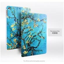 Mode 3D relief peinture Case Pour ForFor apple ipad air 2/ipad 6 (2014) 9.7 Smart Stand tablet Cas Pour iPad Air2 Couverture