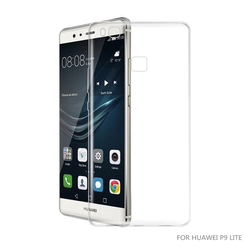 Rooyee Case Для Huawei P9 Lite, крышка p9lite мягкого силикона, роскошные прозрачная крышка huawai, hauwei, huwawei, case p 9 lite ясно ТПУ