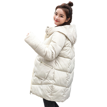 B new parka women 2018 Winter Jacket Women Coats Hooded Female Parka Thick Cotton Padded Lining