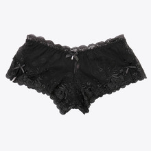 Nadaisy Lace Sexy Panties Women Underwear High Elastic Floral Embroidery Ladies Lingerie Boyshorts Transparent Plus Size Panty