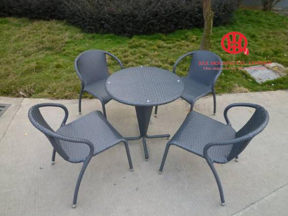 Outdoor Garden Furniture Modern Rattan Dining Table And Chairs Set,wicker Balcony Furniture Set,Rattan Garden Furniture
