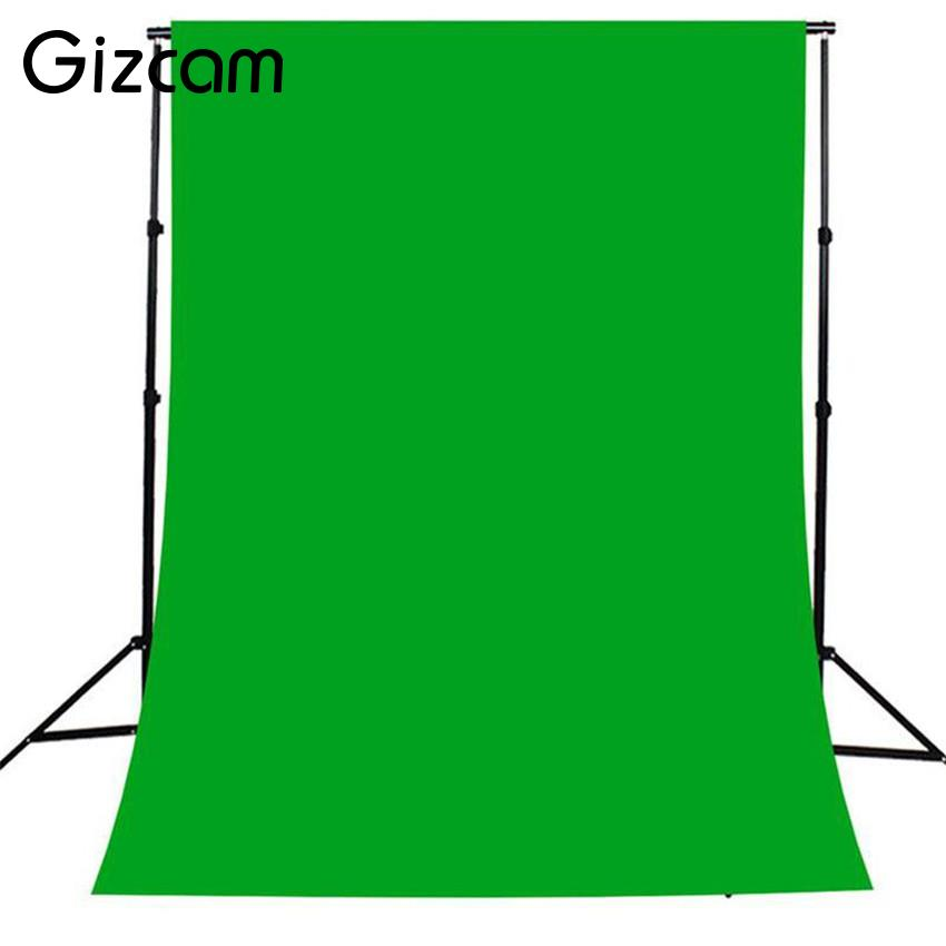 Gizcam 6.6x9.8ft Green Screen Muslin Photography Backdrop Background Non-weven Fabric Lighting Studio Backgrounds 2x3m p s2 04 10 x 20 ft studio umbrella flash lighting kit with black muslin backdrop and background support